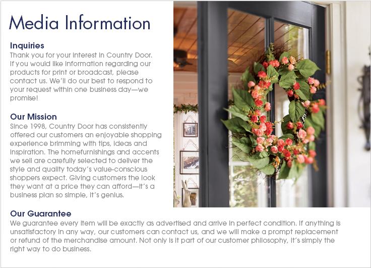 Media Information Country Door