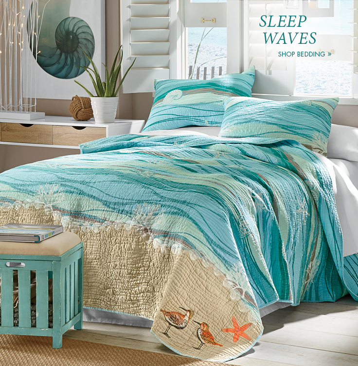 Banner  Sleep Waves  featuring the Melbourne Oversized Quilt. Bed  amp  Bath   Comfortable Bedding  Bathroom Storage   Country Door