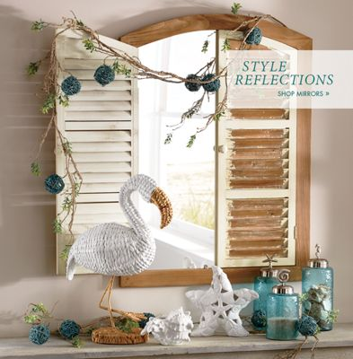 Banner: Style Reflections: featuring our Shutter Mirror & Home Décor - Unique Home Décor Home Accents \u0026 More | Country Door Pezcame.Com
