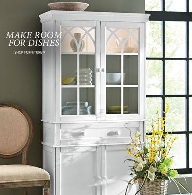 Banner: Make Room for Dishes featuring one of our hutches & Kitchen Dining - dining table sets kitchen essentials | Country Door Pezcame.Com