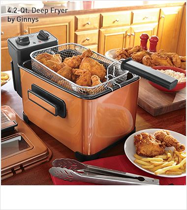 Shop Deep Fryers, Featuring 4.2-QT. Deep Fryer by Ginnys