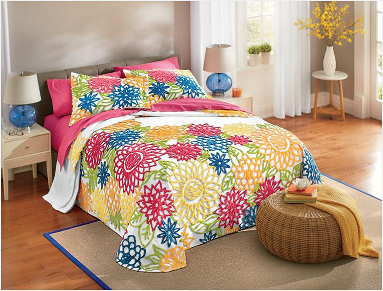 Shop Bedding, Featuring Summer Garden Chenille Bedspread