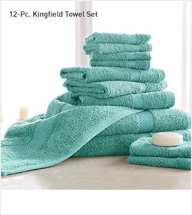 Shop Towels, Featuring 12-pc kingfield towel set