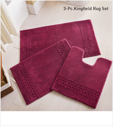 Shop Bath Rugs, Featuring 3-pc Kingfield rug set