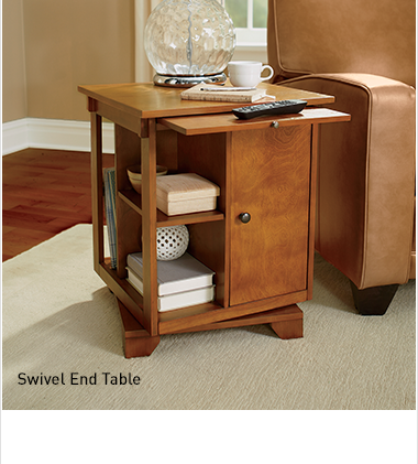 Shop Tables, Featuring swivel end table