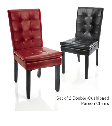 Shop Chairs & Chaises, Featuring set of 2 double-cushioned parson chairs