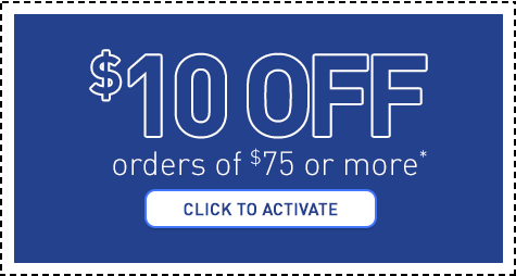 Save $10 on your next order of $75 or more.