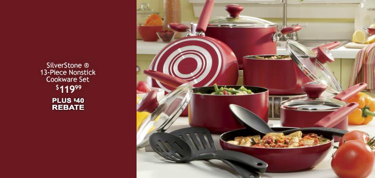 SilverStone 13-Piece Nonstick Cookware Set