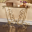Gold Scroll Console