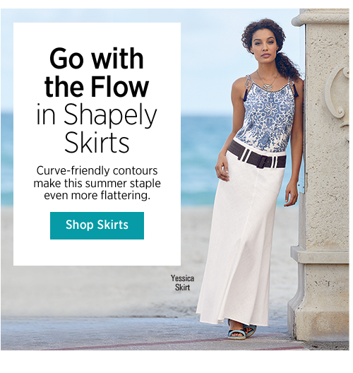 Go with the Flow in Shapely Skirts Curve-friendly contours make this summer staple even more flattering.
