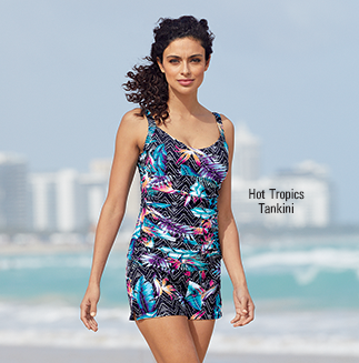 Get in the Swim! From trendy tankinis to sleek one-pieces, we've got you covered.