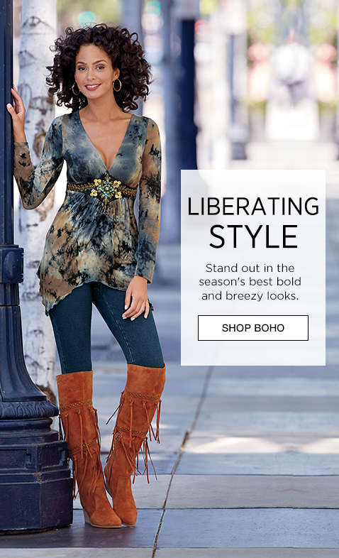 Liberating Style - Stand Out In The Season'S Best Bold And Breezy Looks. - Shop Boho - Featuring Embroidered Tye Dye Top