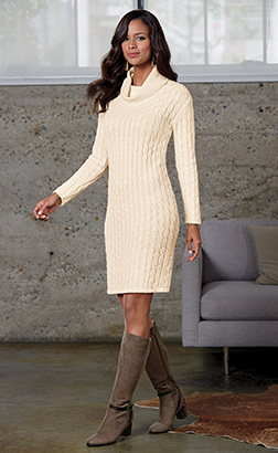 Shop Dresses, Featuring Cable Knit Sweater Dress