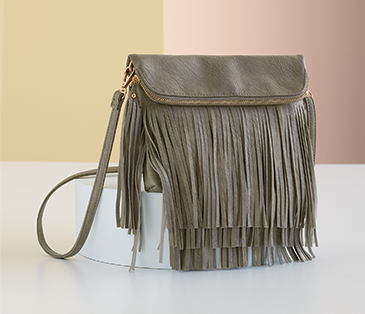 Crossbody Bags, featuring Fringe Foldover Crossbody