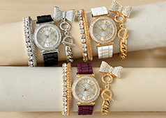 Shop Watches, Featuring Crystal/Rubber-strap Watch