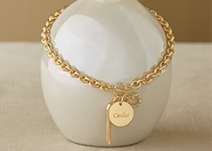 Shop Personalized, Featuring Name Round Toggle Charm Jewelry