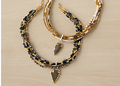 Shop Necklaces, Featuring Arrow/Bead Goldtone Necklace