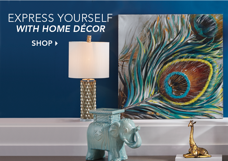 Express Yourself with Home Décor - Featuring Closeup Hand-Painted Peacock Feather
