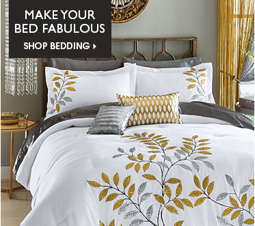 Make Your Bed Fabulous - Shop Bedding Featuring Gilded Leaf Comforter Set