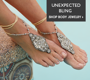 Unexpected Bling - Shop Body Jewelry Featuring Bead/Crystal Foot Jewelry