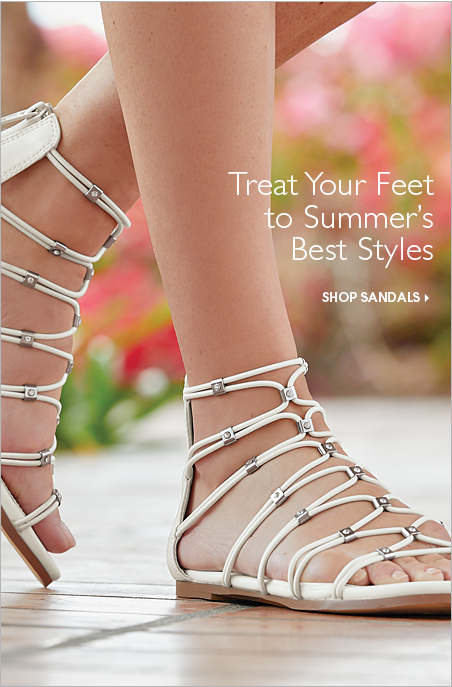Treat Your Feet to Summer's Best Styles  - Shop Sandals Now Featuring Stretch Sandal