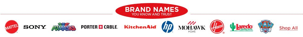 Shop Brands You Know and Trust