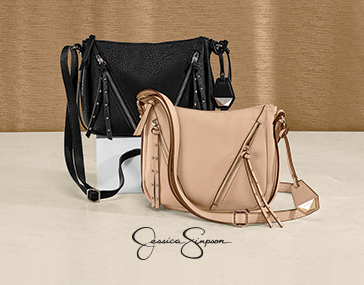 Shop Handbags Featuring Zenia Crossbody Bag by Jessica Simpson