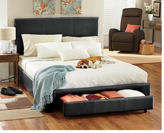 Shop Beds, Headboards, & Frames, featuring Queen Platform Storage Bed