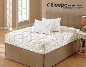 Shop Mattress Pads & Toppers, featuring Sleep Connection® Regal Mattress Rejuvenator Set and Pillow Protector Pair by Montgomery Ward