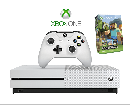 Shop Electronic Gaming, featuring Xbox One S Game Console with Minecraft by Microsoft