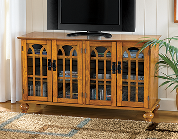 Shop TV Stands & Media Storage, featuring Arched-Door Mission Style 4-Door TV Stand
