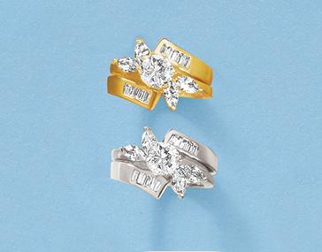 Shop Bridal Sets, featuring Round Baguette Bridal Set