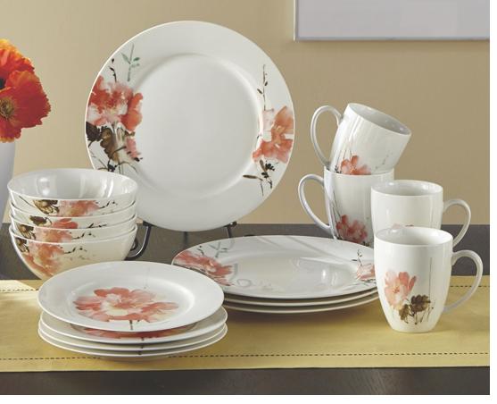 Shop Dinnerware, featuring 49-Piece Peony Beauty Set