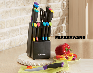 Shop Cutlery, featuring 15-Piece Soft-Grip Color Cutlery Set by Farberware