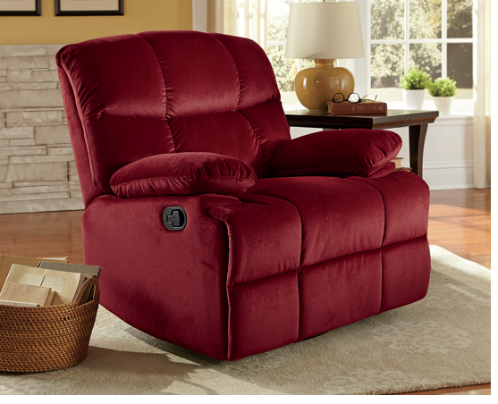 Shop Chairs & Chaises, Featuring Microfiber Swivel Rocker Recliner