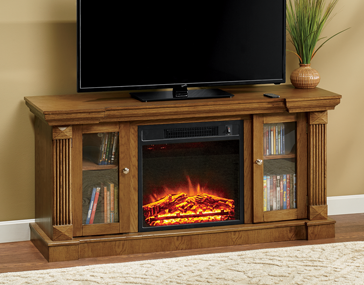 Shop TV Stands & Media Storage, Featuring 2-Door Entertainment Fireplace