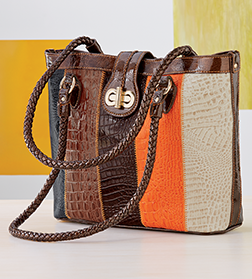 Shop Leather, Featuring Marc Chantal Elgie Animal Stripe Tote