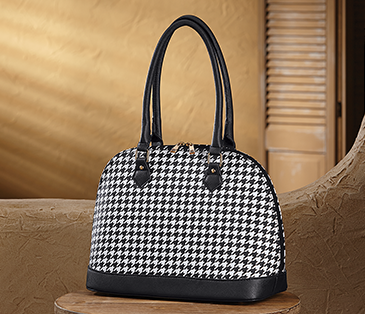 Shop Satchels, Featuring Houndstooth Dome Bag