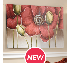 Poppy Buds Canvas