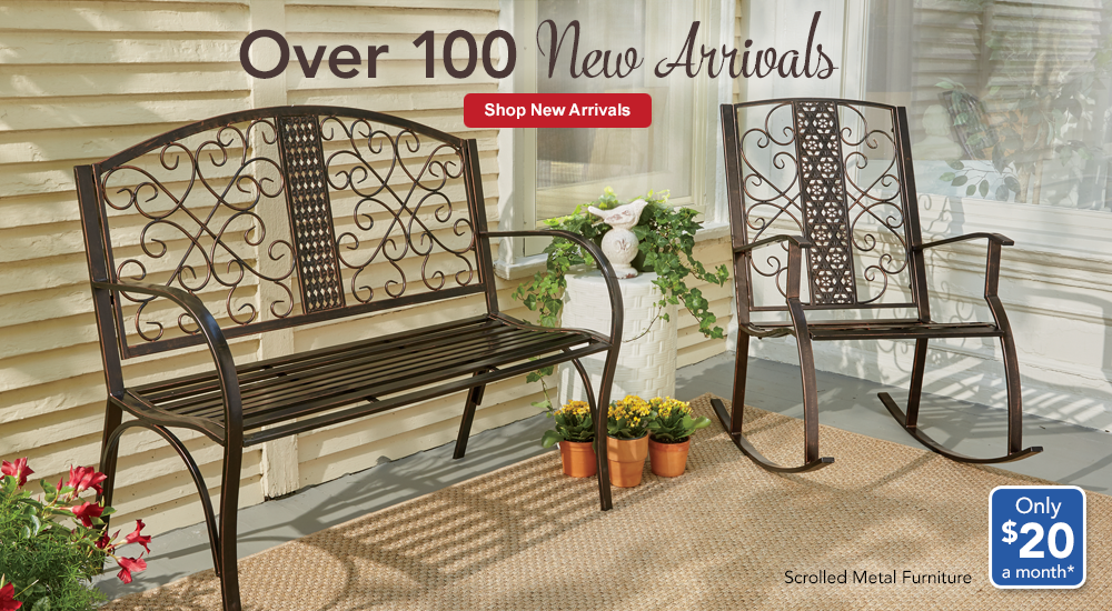 New Arrivals Take Unique Turns from elegant to exceptional! SHOP NEW ARRIVALS, featuring Scrolled Metal Furniture