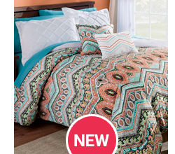 5-pc Melody Reversible Comforter Set