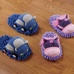 Kid's Fuzzy Friend Slippers - Shop Boys' Clothing