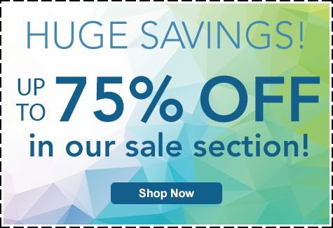 Save Up To 75 In Our Section