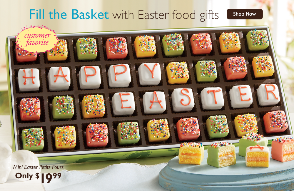 Fill the Basket-with handcrafted Easter food gifts!-