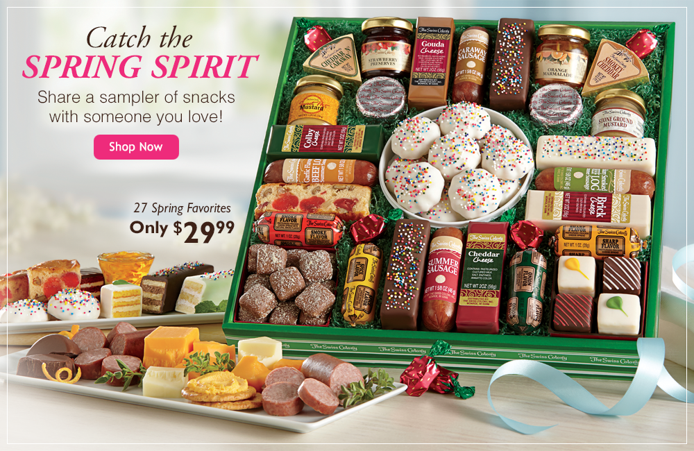 Catch the Spring Spirit-Share a sampler of snacks with someone you love!-
