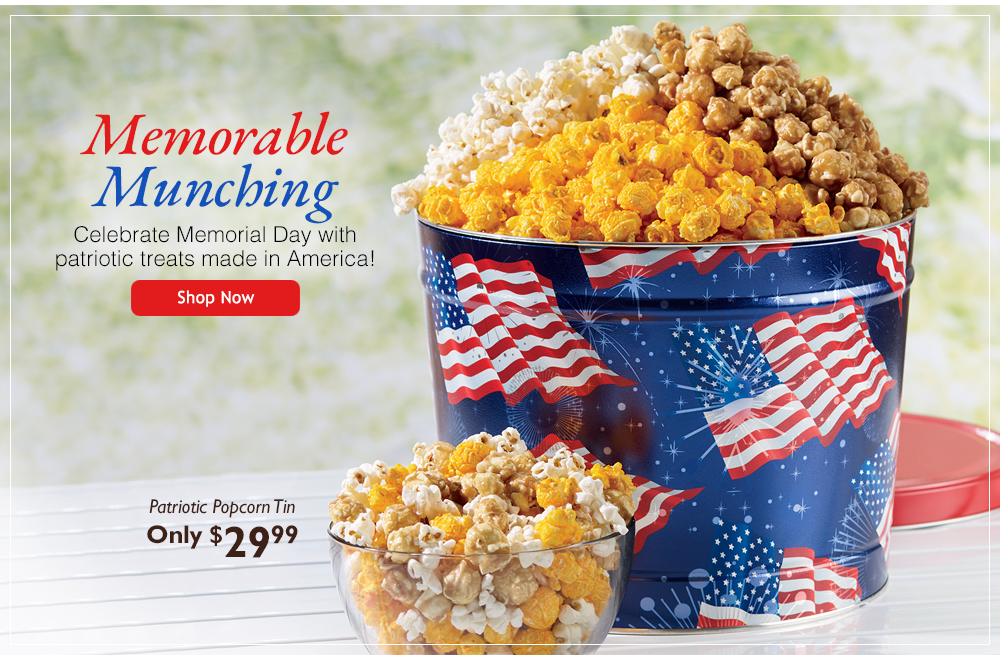 Memorable Munching-Celebrate Memorial Day with patriotic treats made in America!