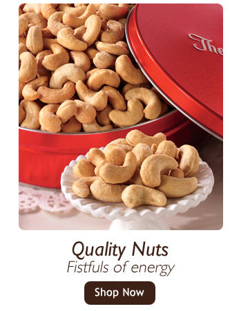 Quality Nuts-Fistfuls of energy-Shop Nut Gifts, featuring Jumbo Cashews