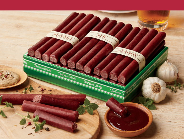 Shop Meats and Cheeses, featuring Wild Game Meat Sticks