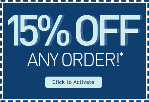 15% Off Any Order!