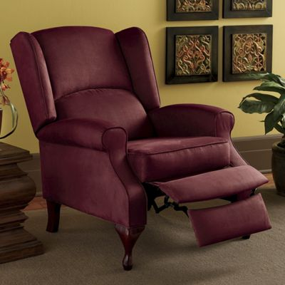 Wingback Recliners Chairs Living Room Furniture. Microfiber Wingback Recliner from Seventh Avenue  75852